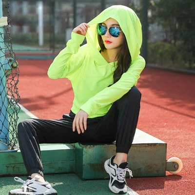 Breathable Fitness Running Hoodie Sport T Shirt