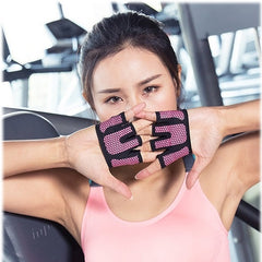 Runature Gym Heavylight Exercise Gloves 4 Finger Women Yoga Gloves Anti-Slip Protectable Fitness Gloves Workout Gloves