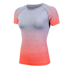 Sport Top Women'S Yoga Shirt fitness clothes Running Gym Short Sleeve Shirt Breathable Yoga Tank Top Sport Shirt Women