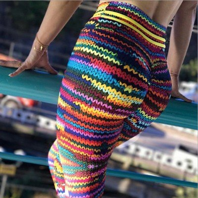 Women Fitness Yoga Leggings Printed High Waist Yoga Pants Tight Sports Leggings Sportswear Running Sports Trouser Yoga Pant