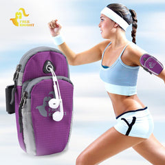 Free Knight Running Arm Bag Pouch Jogging Gym Armband Bag Case Workout Gym Wrist Bag Outdoor Cellphone Pack Running Accessories