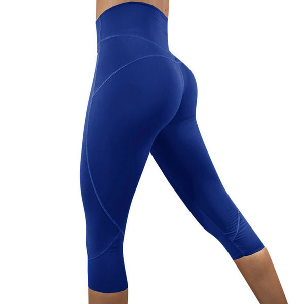 Solid High Waist Seamless Pants