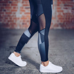 Printed Mesh Womens Yoga Pant Tights Running Leggings Sports Pants Fashion  Female Yoga Fitness Sport Pants Slim Workout Pants