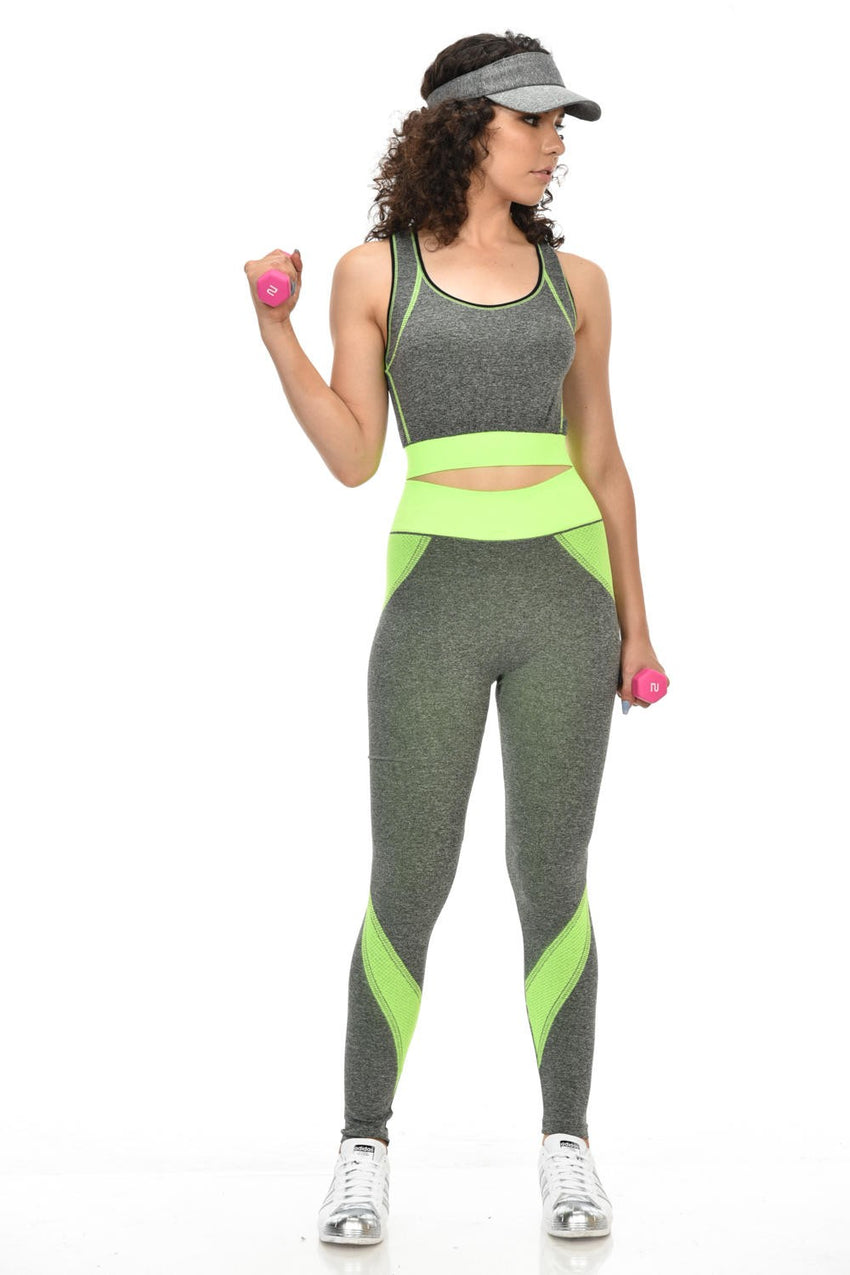 Diamante Women's Power Flex Yoga Pant Legging Sportswear - Style C170