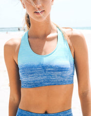 Blue Ombre Sports / Yoga Bra