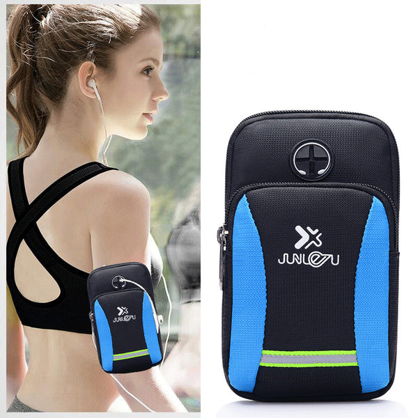 Sports Running Armband Bag Outdoor Sport Mobile Phone Holder Arm Bag Case Cover Waterproof Nylon Running Wrist Pouch Pocket 1022