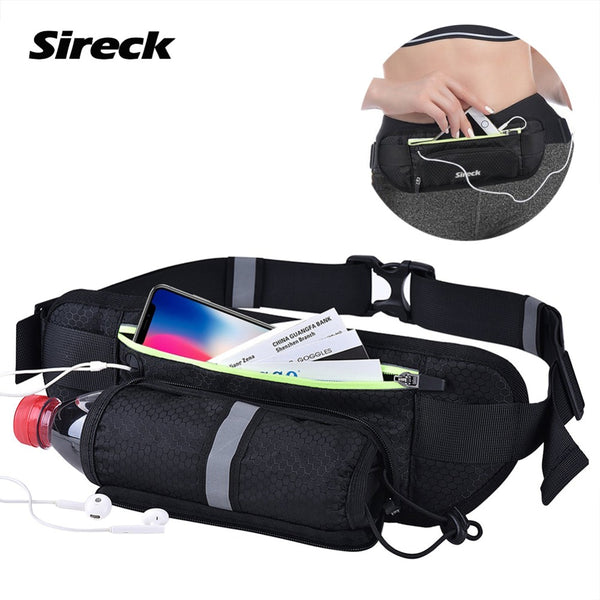 Sireck Waterproof With Kettle Pocket Sport Gym Waist Bag Case For 6 inch Smart Phone Size Running Waist Mobile Phone Pouch