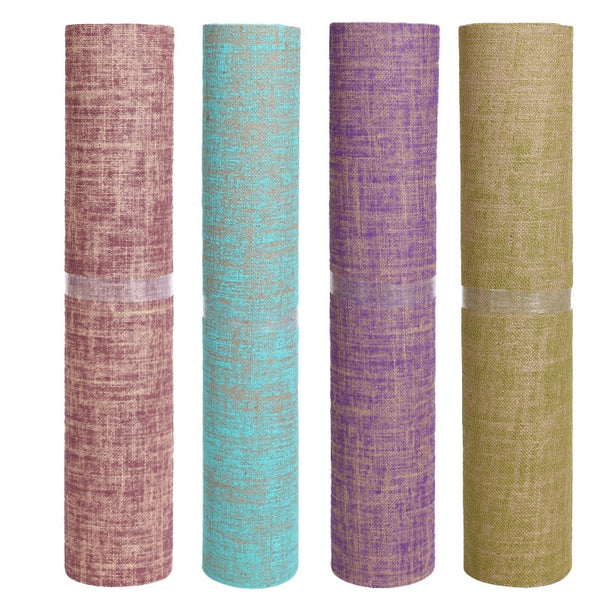Non-slip yoga mat 5mm natural linen rubber yoga mat yoga fitness mat lengthening professional