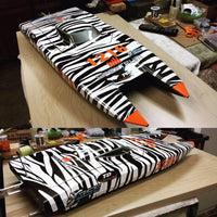 RC Boat with Custom Wrap