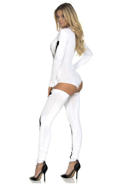 White Bad To The Bone Halloween Skeleton Costume