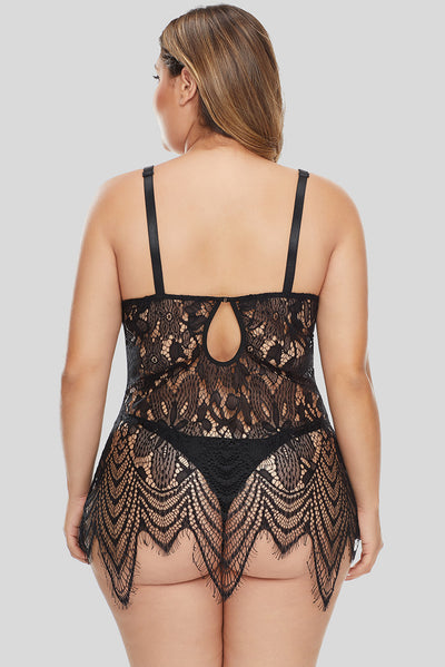 All Over Lace Chemise with Thong