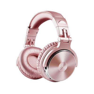 OneOdio Over Ear Headphones For Studio Monitoring And Mixing, Wired Bass Stereo Sound Headsets With Share Port, 50mm Driver Rose Gold Dj Headsets With Mic For Pc, Phone, Laptop, Guitar, Piano (pink)