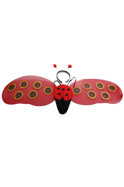 Ladybug Headband & Wings Costume Accessory