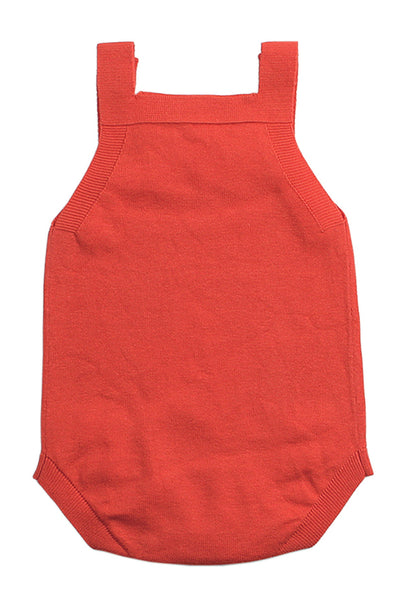 Orange Star Pattern Knitted Infant Romper Baby Wear