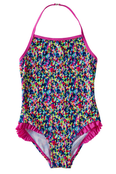 Colorful Ruffle Little Girls' One Piece Swimsuit