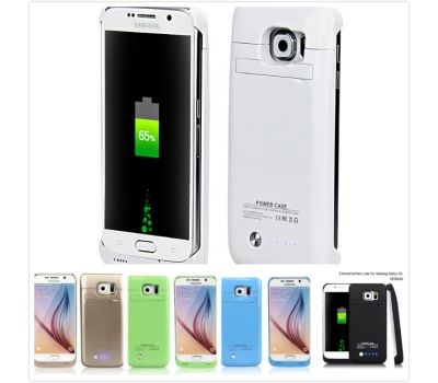 ANSEN Cover Battery and High Power Bank Charger and Charger Case for Samsung Galaxy S6