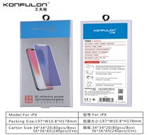 KONFULON iPhone 6p/7p/8p 3D Purple Light Tempered Glass Model 3D