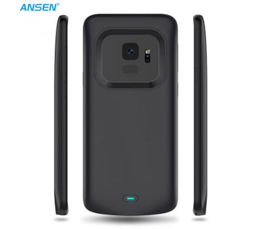 ANSEN 4700MAH BACKUP PHONE CHARGER CASE 4700MAH HIGH CAPACITY TPU+PC BATTERY CASE FOR SAMSUNG GALAXY S9 BLACK
