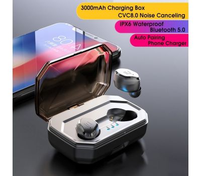 TWS Bluetooth 5.0 Mini Wireless Earbuds Touch Control [CVC8.0 Noise Canceling]