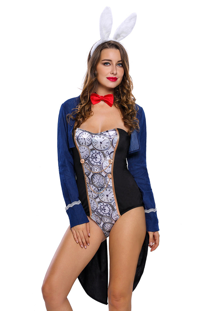 4pcs Bunny Bodysuit Party Costume Set