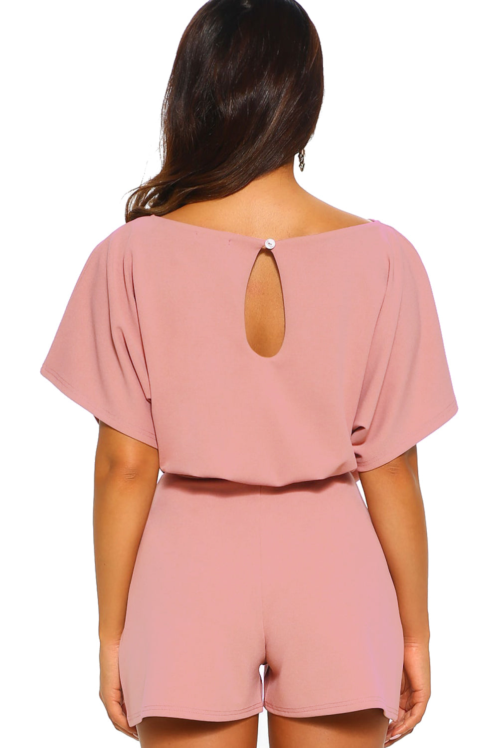 Pink Over The Top Belted Playsuit