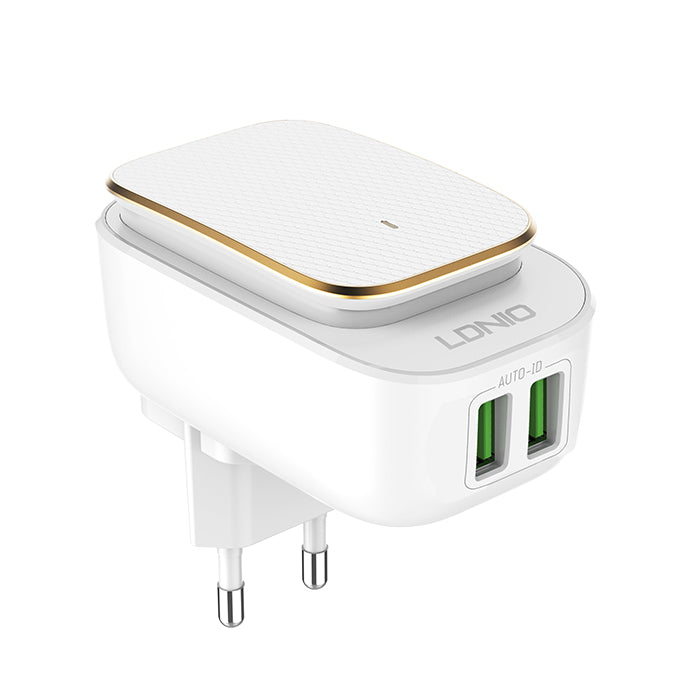 LDNIO A2205 DC5V-2.4A Auto Max Output Double USB Travel Wall Charger