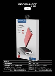KONFULON Power Bank 10000mah Model No A3