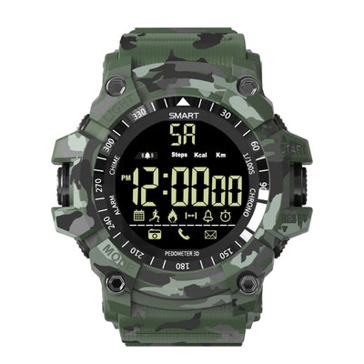 EX16 Plus Camouflage Smart Sports Watch with Luminous Dial, Support SMS Reminder, Remote Photo