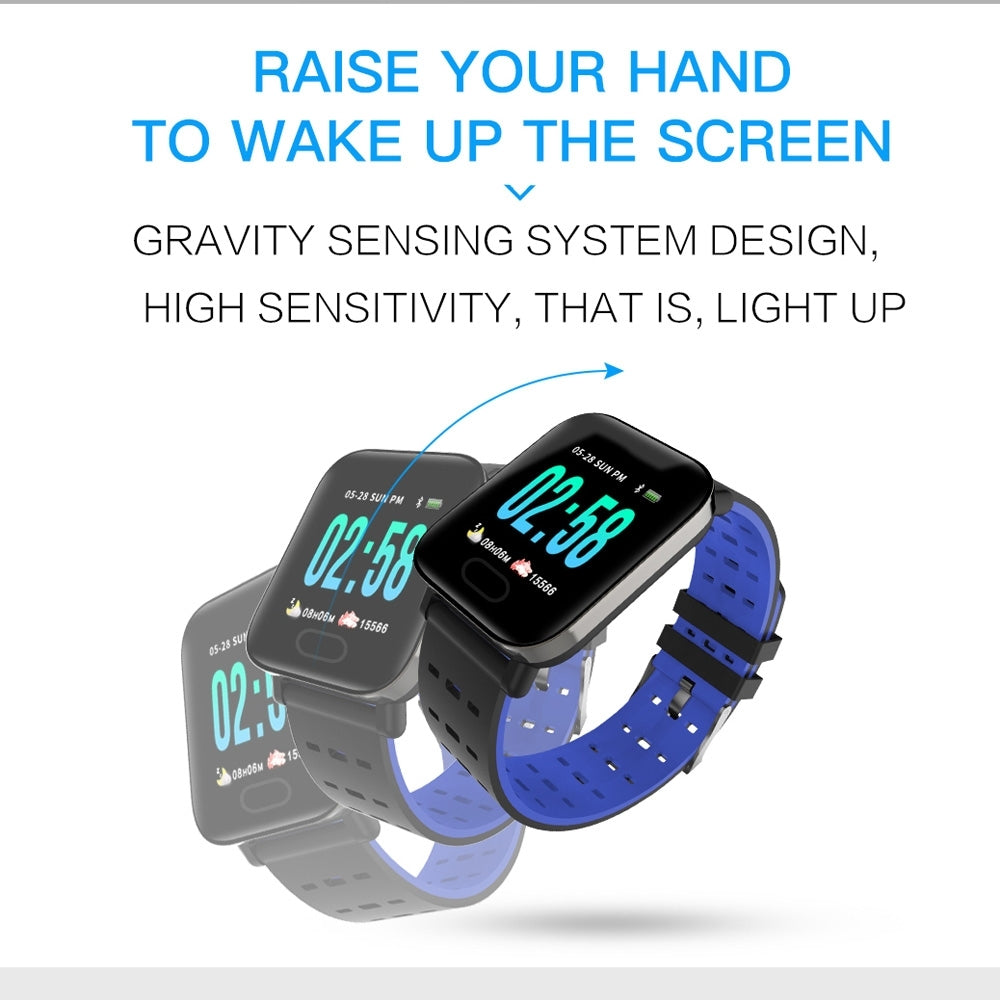 A6 1.3 inch IPS Color Screen Smart Watch IP67 Waterproof, Support Message Reminder
