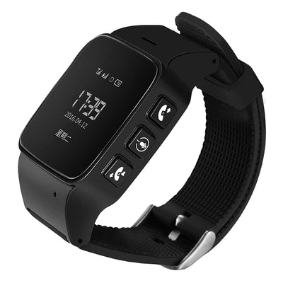 D99 0.96 inch OLED Screen Smartwatch for the Elder IP54 Waterproof, Support GPS + LBS + WiFi