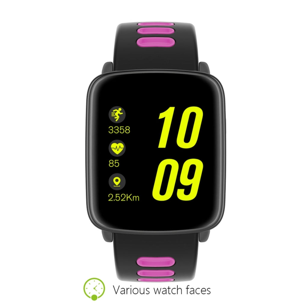 GV68 Touch Screen Bluetooth Smart Bracelet, IP68 Waterproof, Support Heart Rate Monitor, Pedometer