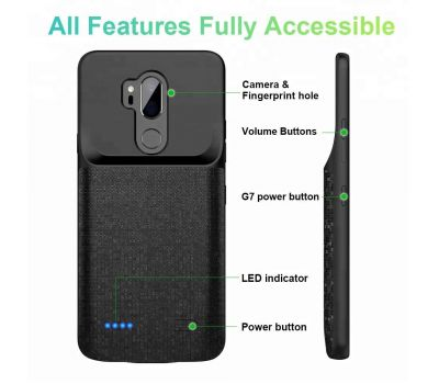 ANSEN PORTABLE CHARGER CASE FOR LG G7 4700MAH PORTABLE CHARGING CASE POWER CASE FOR LG G7