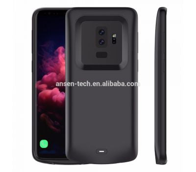 ASNEN Portable Power Bank Case for Galaxy S9 Black Charger Case for Samsung S9 4700MAH