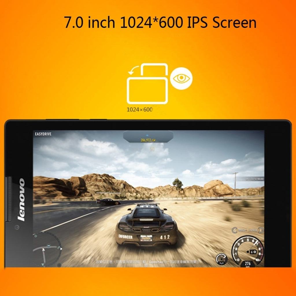 Lenovo Tab3 730F, 7.0 Inch, 1GB+16GB, Android 6.0 MTK8161P Quad Core 1.0GHz, WiFi, GPS, BT, Language: Only Support Chinese & English(White)