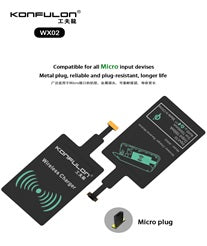 KONFULON WIRELESS CHARGER RECEIVER MODEL NO WX02