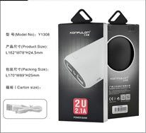 KONFULON Li-Ion Power Bank 12000mah Model No Y1308