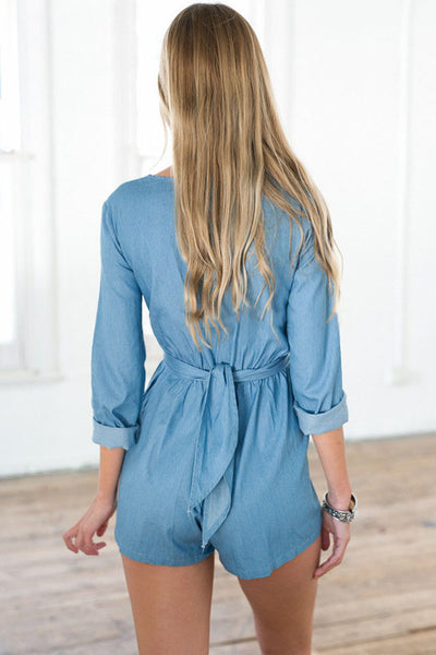 Wrapped in Blue Playsuit