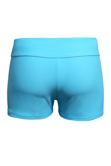 Acid Blue Wide Waistband Swimsuit Bottom Shorts | Women clothing Qatar