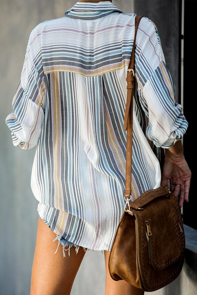 White Lines Striped Blouse