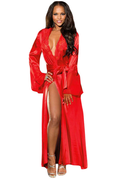 Red Glamour Valentine Long Robe