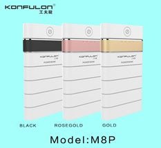 KONFULON Li-Polymer Power Bank 8000mah Model No M8P