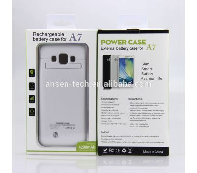ANSEN 4200mah Portable Power Case Charger For Samsung Galaxy A7