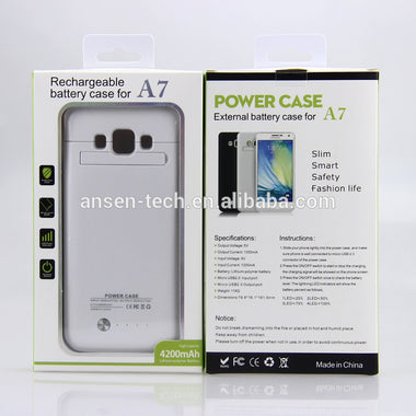 ANSEN 4200MAH PORTABLE POWER CASE BATTERY CHARGER CASE RECHARGEABLE EXTERNAL BATTERY CASE FOR SAMSUNG GALAXY A7 FROM ANSEN