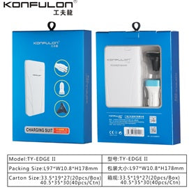 KONFULON Power Bank 10000mah Model No TY EDGE11