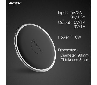 ANSEN Universal Car Wireless Mobile Charger for Smartphones