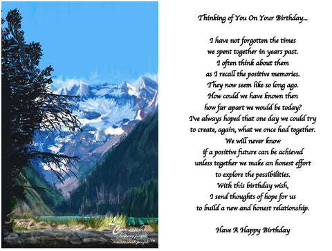 Mountain Views - Birthday Reflections & Aspirations