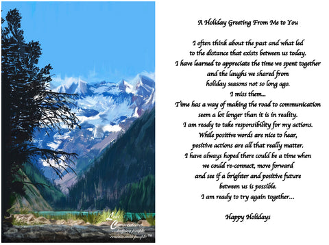 Mountain Views - Holiday Recollections & Wishes