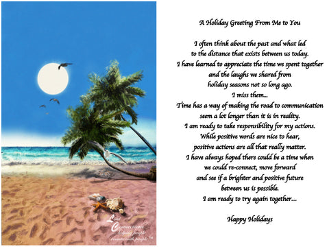 The Beach - Holiday Recollections & Wishes