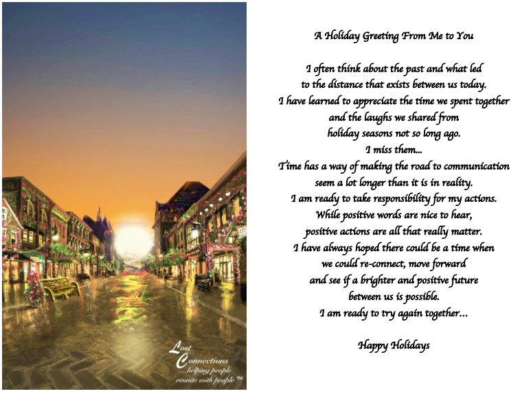 The Holidays In Town - Holiday Recollections & Wishes
