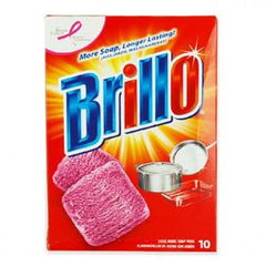 BRILLO RED SOAP PADS -10 PADS